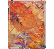 abstract art blue green red iPad Case/Skin