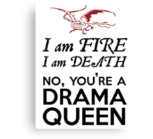 [The Hobbit] - Drama Queen Smaug Canvas Print