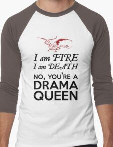 [The Hobbit] - Drama Queen Smaug Men's Baseball ¾ T-Shirt