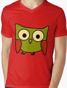 Groovy Owl Mens V-Neck T-Shirt