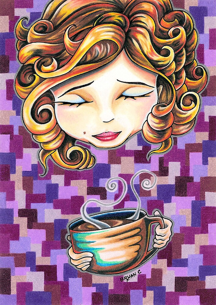Curls and Coffee Swirls by Bryan Collins