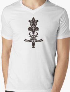 Baker Street flower Mens V-Neck T-Shirt