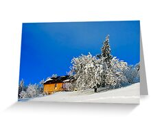 Wintertime, and the livin' ain't easy  Greeting Card