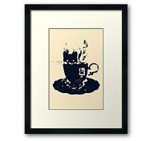 Having Tea With My Lovely Cat Framed Print
