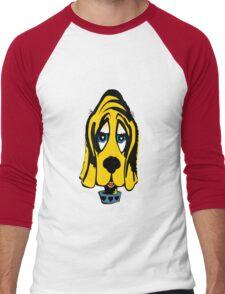Fifties Style Cute Bloodhound Men's Baseball ¾ T-Shirt