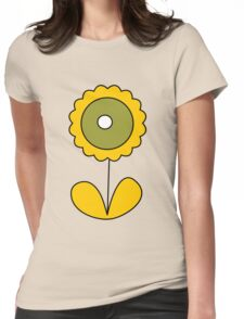 sixties flower Womens Fitted T-Shirt