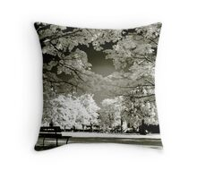 Infrared Park Throw Pillow