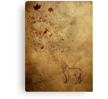 Wolfsong: earth tones Canvas Print