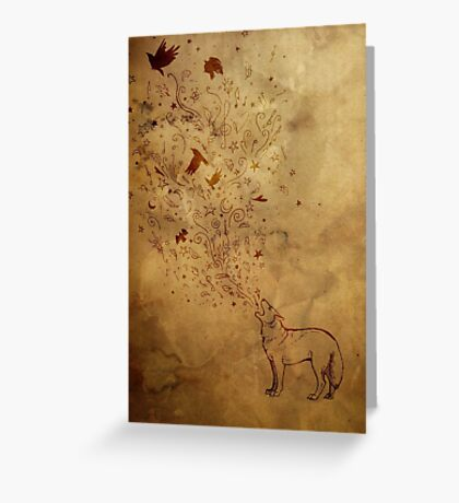 Wolfsong: earth tones Greeting Card