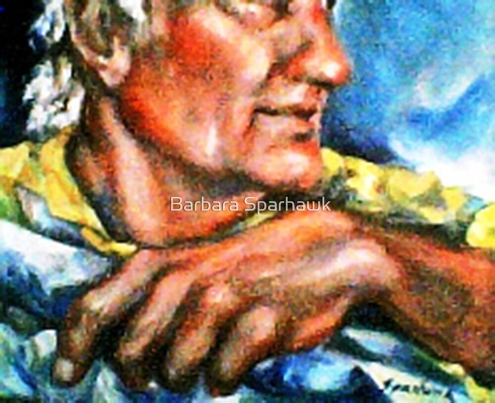 Portrait of Rick, Granite Sculptor by Barbara Sparhawk
