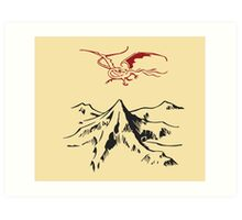 [The Hobbit] - Lonely Mountain (Light) Art Print