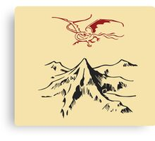 [The Hobbit] - Lonely Mountain (Light) Canvas Print