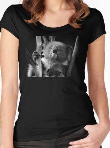 Koala 1 B&W Women's Fitted Scoop T-Shirt
