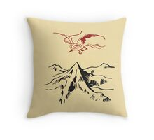 [The Hobbit] - Lonely Mountain (Light) Throw Pillow