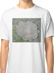 White Peony Bloom D Classic T-Shirt