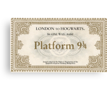 Hogwarts Express Ticket Canvas Print