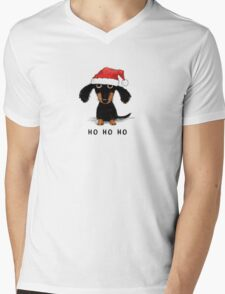 Doxie Clause Mens V-Neck T-Shirt