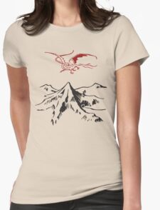 [The Hobbit] - Lonely Mountain (Light) Womens Fitted T-Shirt