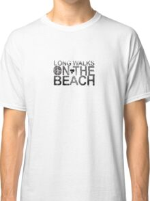 Long Walks On the beach Classic T-Shirt