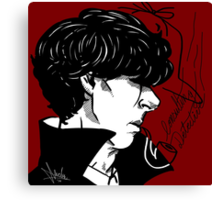 Consulting Detective Canvas Print