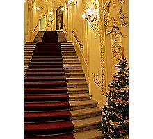 Christmas at Prague Theater Photographic Print