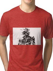 Metal Gear Rising Raiden Black and White Tri-blend T-Shirt