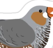 Zebra Finch Love Sticker