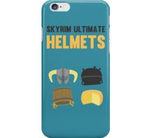 Skyrim ultimate helmets iPhone Case/Skin