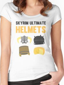 Skyrim ultimate helmets Women's Fitted Scoop T-Shirt