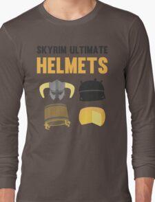 Skyrim ultimate helmets Long Sleeve T-Shirt