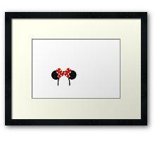 Minnie Mouse Ears Framed Print