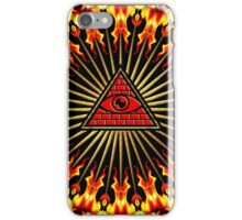 All Seeing Eye Of God, Flames - Symbol Omniscience iPhone Case/Skin