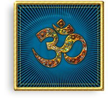 OM MANTRA - Buddhism - Symbol of spiritual strength  Canvas Print