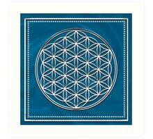 FLOWER OF LIFE - SACRED GEOMETRY - HARMONY & BALANCE Art Print