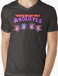 Teenage Mutant Ninja Axolotls Mens V-Neck T-Shirt