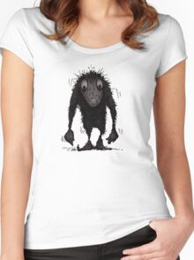 Funny Cute Scary Troll Women's Fitted Scoop T-Shirt