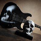 Airbrushed Skull Guitar by Matt Bottos