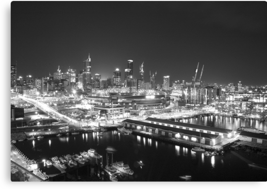 Melbourne at night by Malcolm Garth