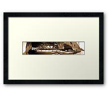 Maheno Shipwreck Panorama Framed Print