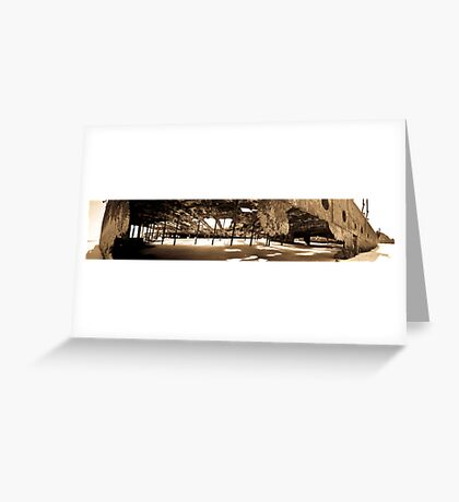 Maheno Shipwreck Panorama Greeting Card