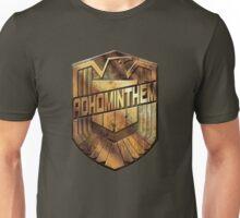 Custom Dredd Badge - Adhominthem Unisex T-Shirt