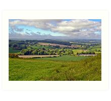 Wiltshire Countryside Art Print