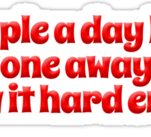 An apple a day keeps everyone away if you throw it hard enough Sticker