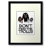 Don't Feed The Trolls! Framed Print