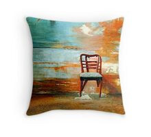 Sit Here a While Throw Pillow