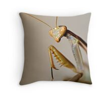 Mantis Profile Throw Pillow
