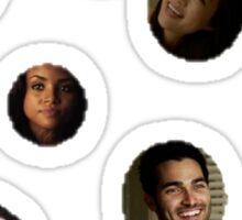 Teen Wolf Polka Dots Sticker