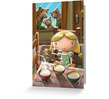 Goldilocks Greeting Card