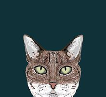 Sidney - Tabby Cat art print cell phone case with cute cat funny cat gifts perfect gift for cat lady by PetFriendly
