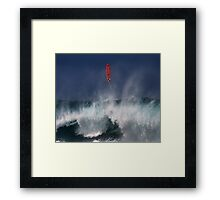 Let's go fly a surfboard on the North Shore. Framed Print
